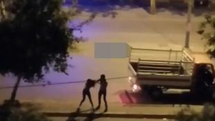 Sokak ortasında genç kıza şiddet kamerada
