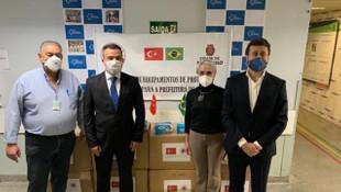Türkiye'den bir ülkeye daha maske desteği