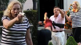 Avukat çift, protestoculara silah çekti!