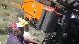 Erzurum'da feci olay! Traktör ile balya makinesi arasında kalarak öldü