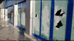 Alışveriş yaptığı markete böyle saldırdı