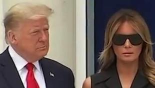 ABD Trump çiftinin bu görüntülerini konuşuyor