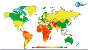 Dünya bu haritayı konuşuyor! İşte Koronavirüste en güvenli ülkeler!