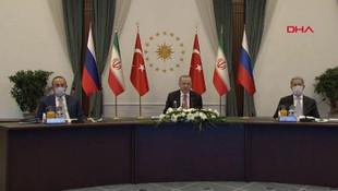 Türkiye, Rusya ve İran'dan kritik zirve! Ortak bildiri yayımlandı