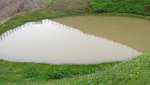 Gümüşhane'deki Dipsiz Göl'ün son hali şaşırttı