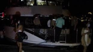 İstanbul Boğazı'nda tekne partisine ''koronavirüs'' baskını!