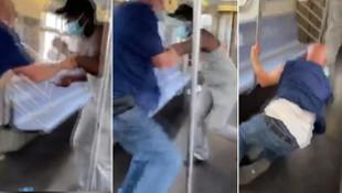 Metroda dehşet! Önüne gelene bıçakla saldırdı