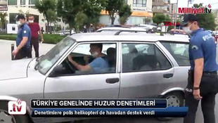 Türkiye'de eş zamanlı denetim! Havadan destek verildi