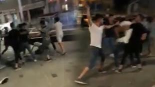 Taksim'de meydan kavgası kamerada!