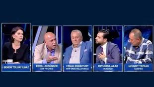 CHP'li isim canlı yayını terk etti