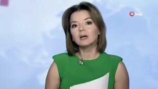 Ukraynalı spikerin zor anları! Haber sunarken dişi çıktı