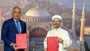 Bakanlık ile Diyanet Ayasofya protokolünü imzaladı!