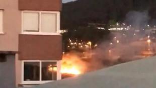 İstanbul'da asker uğurlamasında kışlayı yaktılar
