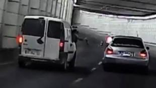 Magandalar trafikte bira tokuşturdu