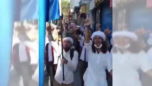 İstanbul'da ''şeriat için'' yürüdüler!