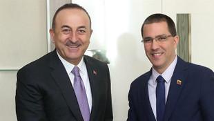 Dışişleri Bakanı Mevlüt Çavuşoğlu, Venezuelalı mevkidaşı ile görüştü