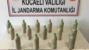 150 bin TL değerindeki esrarı pet şişelerin içerisine saklamışlar!