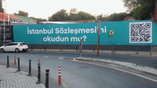 Beşiktaş sokakları İstanbul Sözleşmesiyle donatıldı