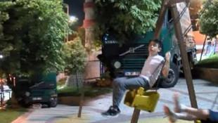 İstanbul'da çocuk parkında facianın eşiğinden dönüldü