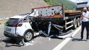 Bolu'da korkunç kaza: 2 ölü, 1 yaralı