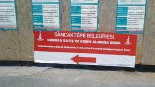 Sancaktepe Belediye Başkanı İmamoğlu'na ''pankart'' sitemi