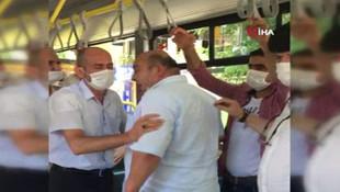 İstanbul'da otobüste ''normalleşme'' kavgası kamerada