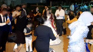Sokak düğünü koronavirüs tedbirlerini alt üst etti