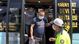 Esenyurt'ta minibüs denetimi! 30 yolcu çıktı
