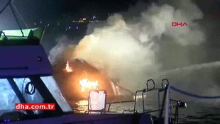 İstanbul Boğazı'nda tekne yangını