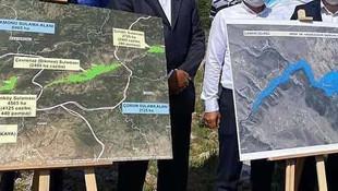 Temeli 2017 yılında atılan baraj kayboldu