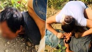 Küçük çocuğa saldıran sapığı böyle yakaladı!