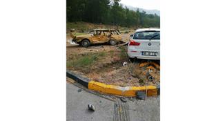 Dalaman'da iki otomobil çarpıştı: 2 ölü, 1 yaralı