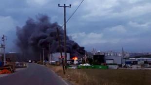 Gebze'de fabrikada yangın paniği!