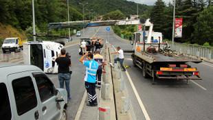 Sarıyer'de trafiği kilitleyen kaza! Yaralılar var