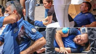 Antalya'da dehşet anları! 2 polisi bıçaklayan zanlı bacağından vuruldu