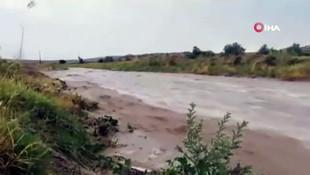 Kapadokya'da sel böyle görüntülendi
