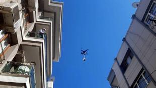 İzmir'de bir ilginç olay: Kurban etini drone'la dağıttı