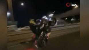 İstanbul'da motosikletli maganda terörü kameralara böyle yansıdı