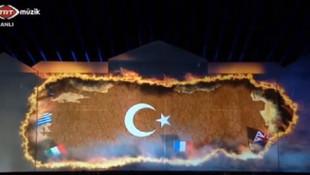 TRT ekranlarında tepki çeken görüntü