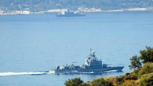 Türk ve Yunan savaş gemilerinin bekleyişi sürüyor