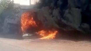 Dehşete düşüren olay! Kardeşinin minibüsüne benzin döküp yaktı