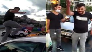 İstanbul'da şehir magandası genç kadına trafikte kabusu yaşattı