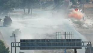Suriye'de Türk askeri aracı yakınında patlama