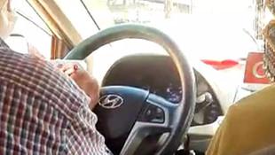 Trafikte ''at koşturan'' taksici yakalandı!