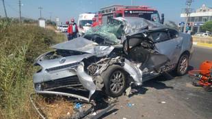 Balıkesir'de korkunç kaza: Baba öldü, kızı ağır yaralı