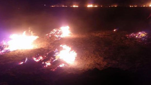 Meteor yangını olduğu iddia edilen alanda mıknatıslarla gök taşı aradılar!