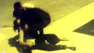 Sokak ortasında eşine kafa attı!