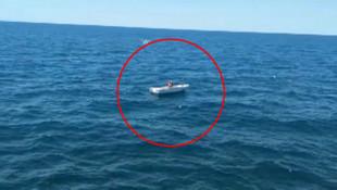 Denizin ortasında mahsur kalan kişinin tekneyi çaldığı ortaya çıktı