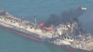 Çin'de korkunç kaza! Petrol tankeri ile yük gemisi çarpıştı