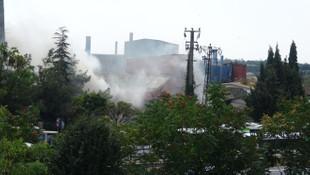 Kocaeli'de fabrikada yangın paniği